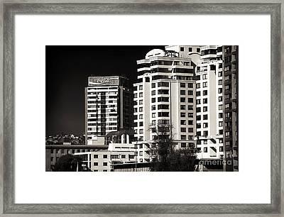 Coca Cola Building In Vina Del Mar Framed Print by John Rizzuto