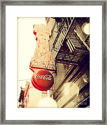Coca Cola Framed Print by Chris Andruskiewicz