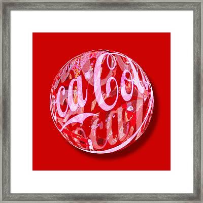 Coca-cola Orb Framed Print by Tony Rubino