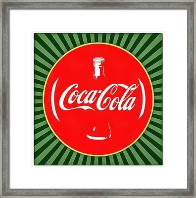 Coca Cola Pop Art  Framed Print by Dan Sproul
