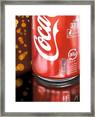 Coca-cola Framed Print by Veronica Minozzi