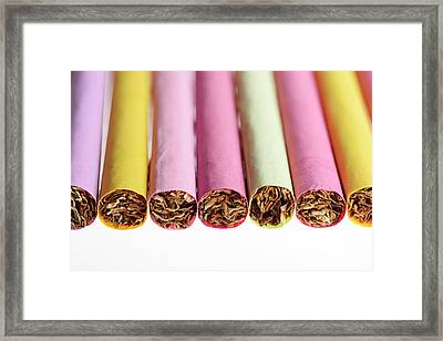 Cocktail Cigarettes Framed Print by Cordelia Molloy