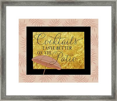Cocktails Framed Print by Amy Cummings