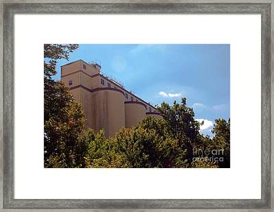 Cocoa Bean Storage Elevators Framed Print by Mark Dodd