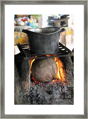Coconut Stove Playa Paraiso Framed Print by Linda Queally