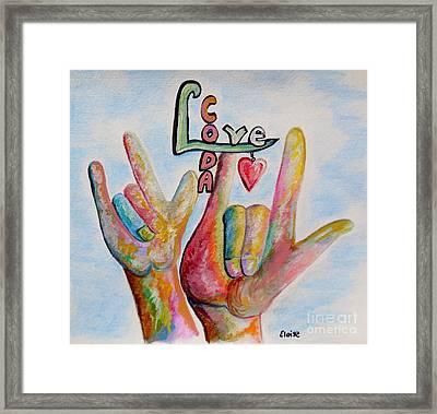 Coda Children Of Deaf Adults Framed Print by Eloise Schneider