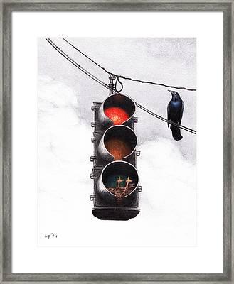 Code Red Framed Print by Lars Furtwaengler