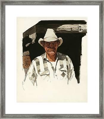 Cody Cowboy 2 Framed Print by Don  Langeneckert
