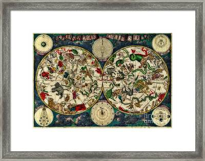 Coeletste Old World Map Framed Print by Inspired Nature Photography Fine Art Photography