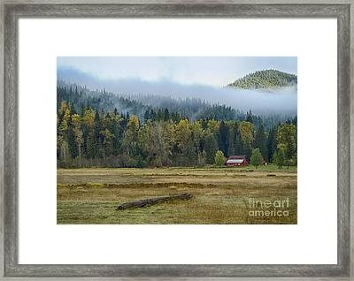 Coeur D Alene River Farm Framed Print by Idaho Scenic Images Linda Lantzy