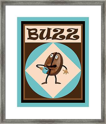 Coffee Buzz Framed Print by Amy Vangsgard