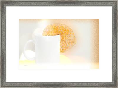 Coffee And Donuts Two Framed Print by Bob Orsillo