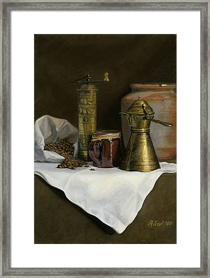 Coffee Balkanica Framed Print by Dan Petrov