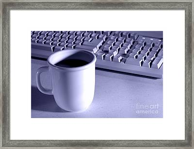 Coffee Blue Framed Print by Olivier Le Queinec