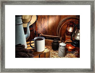 Coffee Break At The Chuck Wagon Framed Print by Olivier Le Queinec