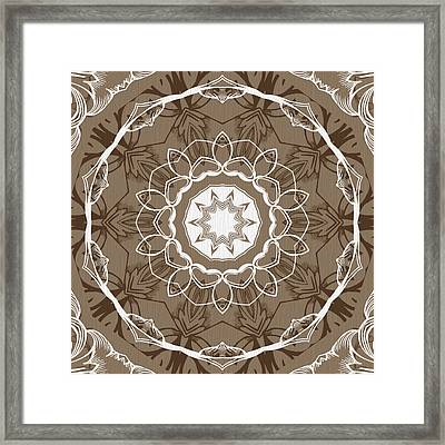 Coffee Flowers 1 Ornate Medallion Framed Print by Angelina Vick