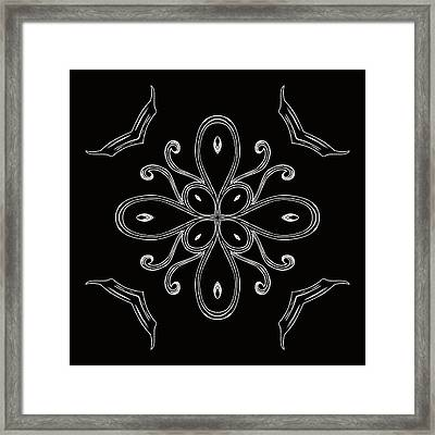 Coffee Flowers 4 Bw Ornate Medallion Framed Print by Angelina Vick