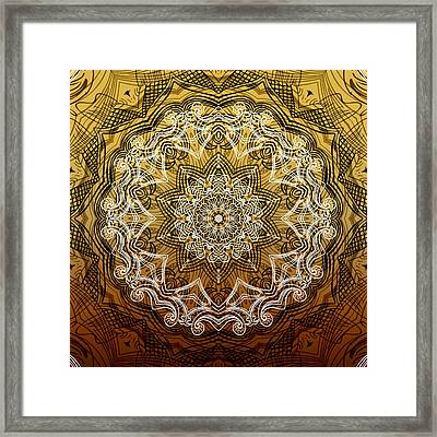Coffee Flowers 6 Calypso Ornate Medallion Framed Print by Angelina Vick