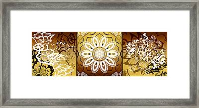 Coffee Flowers Calypso Triptych 2 Horizontal   Framed Print by Angelina Vick