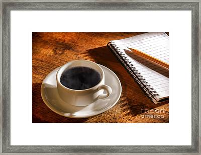 Coffee For The Writer Framed Print by Olivier Le Queinec