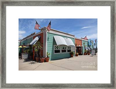 Coffee Shop At The Municipal Wharf At Santa Cruz Beach Boardwalk California 5d23833 Framed Print by Wingsdomain Art and Photography