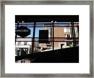 Coffee Stop Framed Print by Lori Thompson