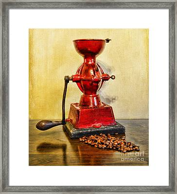 Coffee The Morning Grind Framed Print by Paul Ward