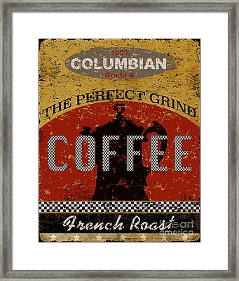 Coffee - The Perfect Grind Framed Print by Marilu Windvand