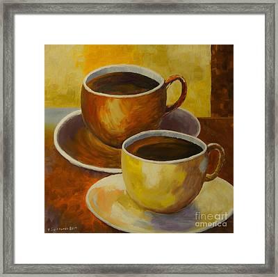 Coffee Time Framed Print by Veikko Suikkanen