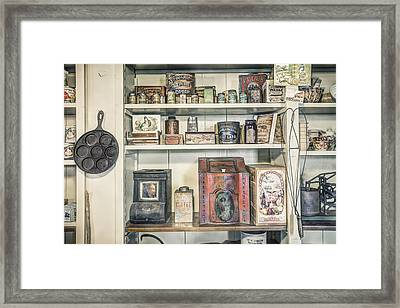 Coffee Tobacco And Spice - On The Shelves At A 19th Century General Store Framed Print by Gary Heller
