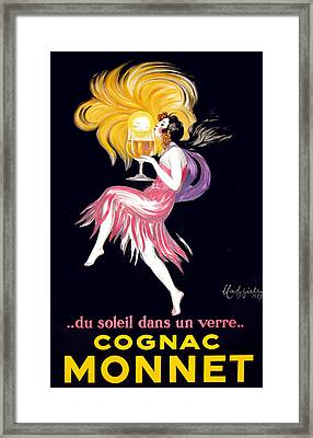 Cognac Monnet Advertising Poster Framed Print by Gary Perron