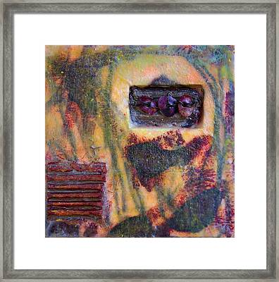 Coin Of The Realm Encaustic Framed Print by Bellesouth Studio