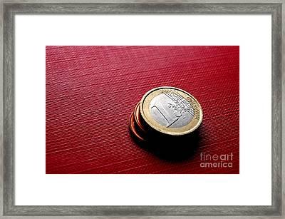 Coins Euro Framed Print by Michal Bednarek