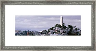 Coit Tower On Telegraph Hill, San Framed Print by Panoramic Images