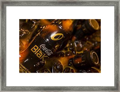 Coke Blak On Ice Framed Print by Scott Campbell