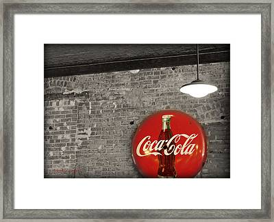 Coke Cola Sign Framed Print by Paulette B Wright
