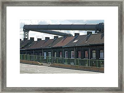 Coke Gas Pipe And Suburban Housing Framed Print by Dirk Wiersma