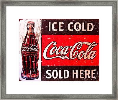 Coke Framed Print by Reid Callaway