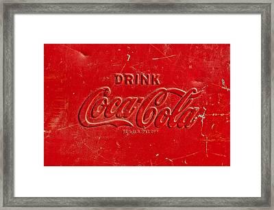 Coke Sign Framed Print by Jill Reger