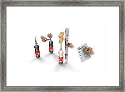 Cola And Mentos Experiment Framed Print by Mikkel Juul Jensen