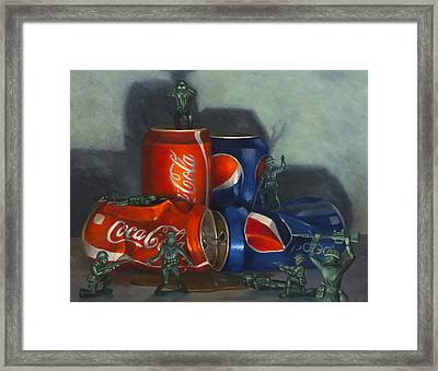 Cola Wars Framed Print by Judy Sherman