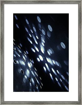 Colander Abstract Framed Print by Natalie Kinnear