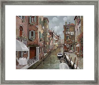 colazione a Venezia Framed Print by Guido Borelli