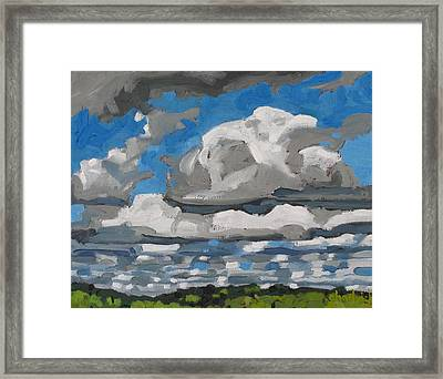 Cold Air Mass Cumulus Framed Print by Phil Chadwick