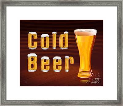 Cold Beer Framed Print by Bedros Awak