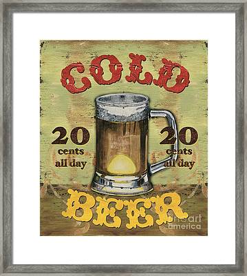Cold Beer Framed Print by Debbie DeWitt