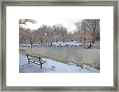 Cold Camping Framed Print by Betty Morgan