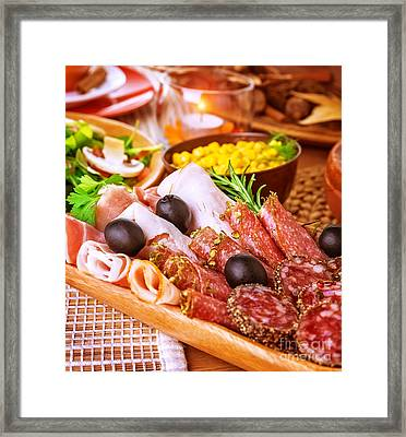 Cold Cuts Framed Print by Anna Omelchenko
