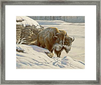 'cold Day At Soda Butte' Framed Print by Paul Krapf