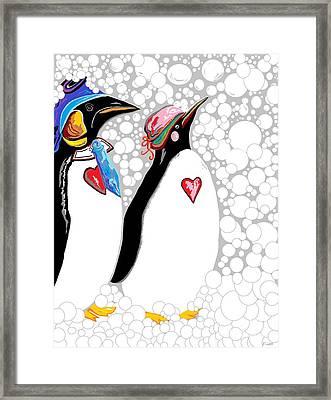 Cold Feet Warm Hearts Framed Print by Eloise Schneider